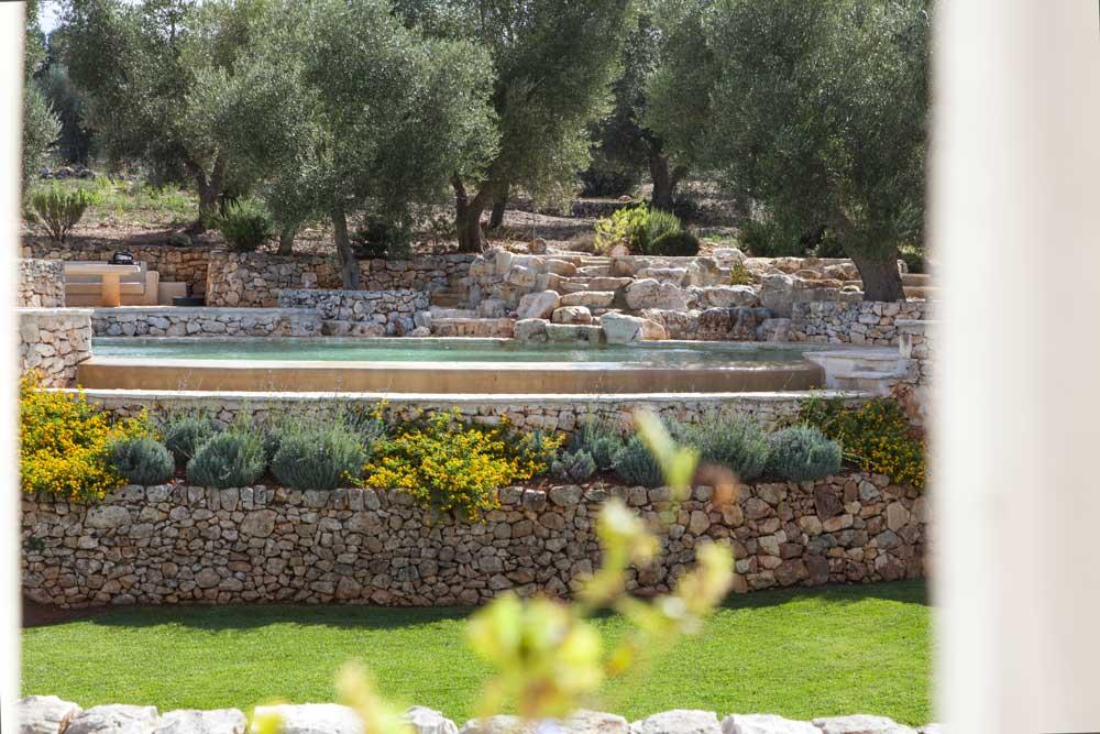 Giardino piscina design Villa Ceglie Messapica #6