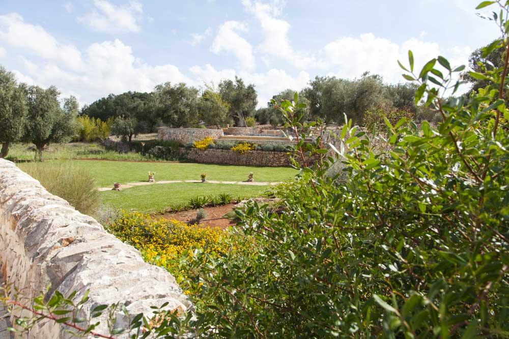 Giardino prato e verde design Villa Ceglie Messapica #6