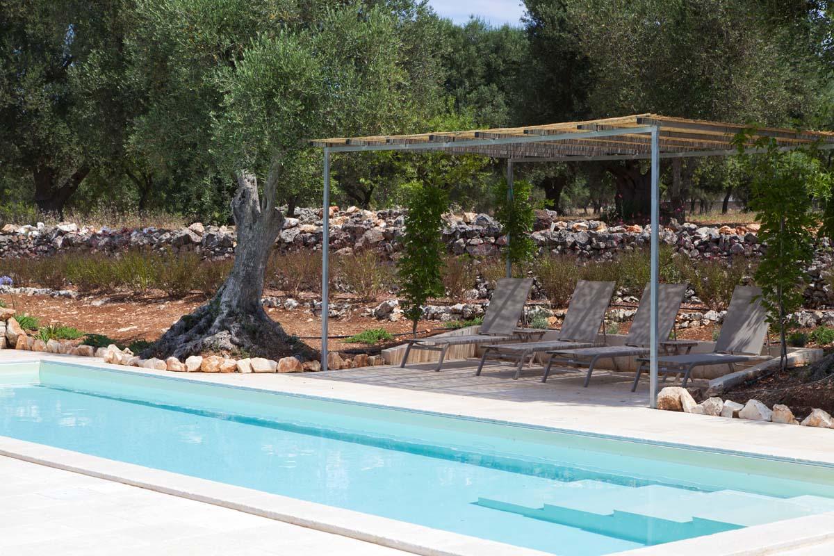 Giardino piscina Ostuni Brindisi #8