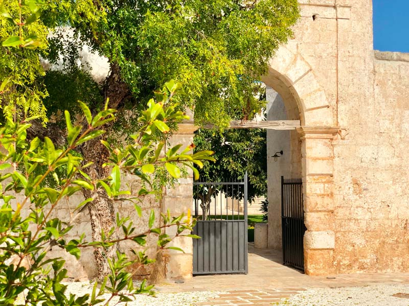 ingresso Giardino antica masseria Ostuni #9